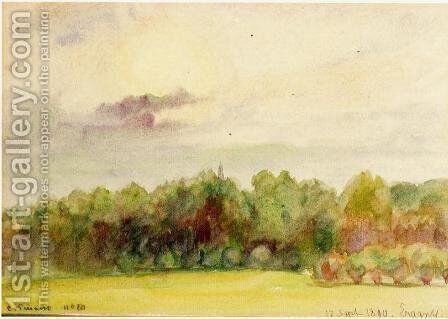 Landscape at Eragny I by Camille Pissarro - Reproduction Oil Painting