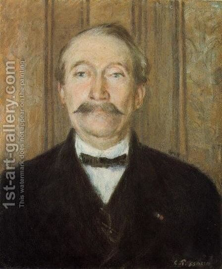 Portrait of Pere Paleille, Pontoise by Camille Pissarro - Reproduction Oil Painting