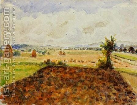 Landscape at Eragny, Clear Weather by Camille Pissarro - Reproduction Oil Painting