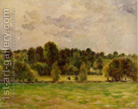 Eragny, Twilight by Camille Pissarro - Reproduction Oil Painting