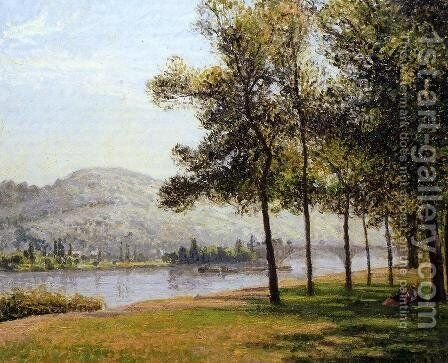 The Cours-la-Reine at Rouen; Morning, Sunlight by Camille Pissarro - Reproduction Oil Painting