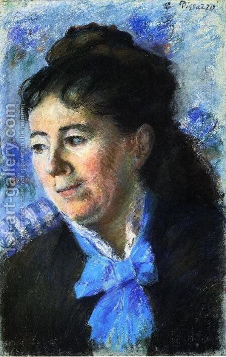 Portrait of Madame Felicie Vellay Estruc by Camille Pissarro - Reproduction Oil Painting