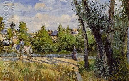 Landscape, Bright Sunlight, Pontoise by Camille Pissarro - Reproduction Oil Painting