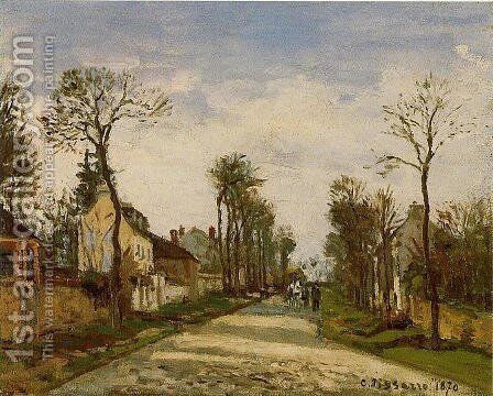 The Road to Versailles at Louveciennes by Camille Pissarro - Reproduction Oil Painting