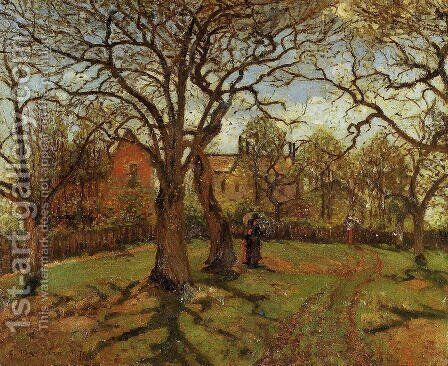 Chestnut Trees, Louveciennes, Spring by Camille Pissarro - Reproduction Oil Painting