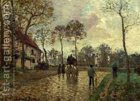 The Stagecoach at Louveciennes by Camille Pissarro - Reproduction Oil Painting