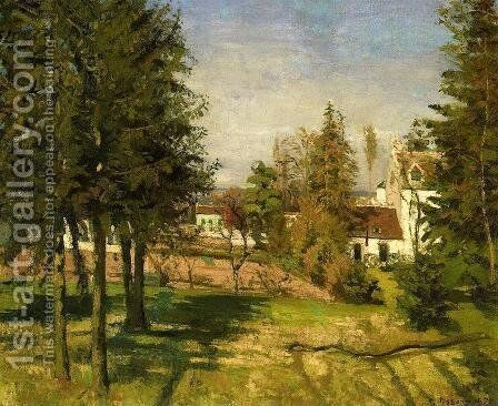The Pine Trees of Louveciennes by Camille Pissarro - Reproduction Oil Painting