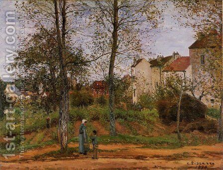 Landscape near Louveciennes by Camille Pissarro - Reproduction Oil Painting