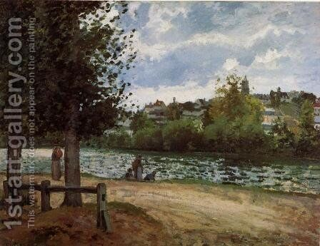 Banks of the Oise in Pontoise by Camille Pissarro - Reproduction Oil Painting