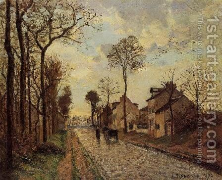 Road in Louveciennes by Camille Pissarro - Reproduction Oil Painting