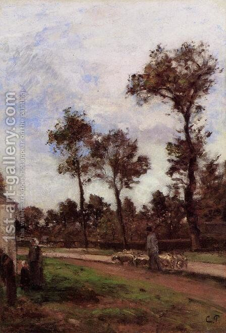 Louviciennes by Camille Pissarro - Reproduction Oil Painting