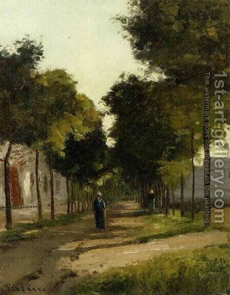 La Route by Camille Pissarro - Reproduction Oil Painting