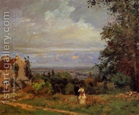 Landscape near Louveciennes I by Camille Pissarro - Reproduction Oil Painting