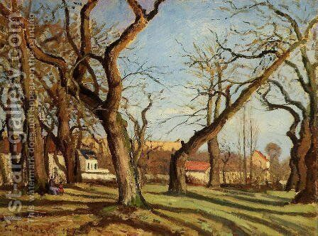 Groves of Chestnut Trees at Louveciennes by Camille Pissarro - Reproduction Oil Painting