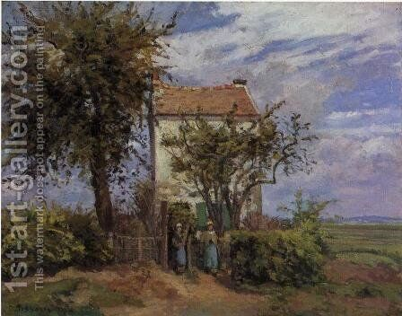 The House in the Fields, Rueil by Camille Pissarro - Reproduction Oil Painting