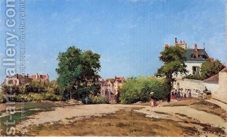The Crossroads, Pontoise by Camille Pissarro - Reproduction Oil Painting