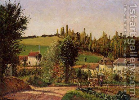 Path of l'Hermitage at Pontoise by Camille Pissarro - Reproduction Oil Painting
