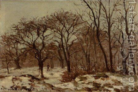 Chestnut Orchard in Winter by Camille Pissarro - Reproduction Oil Painting