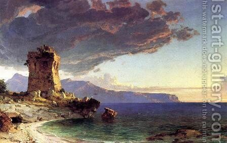The Isle of Capri by Jasper Francis Cropsey - Reproduction Oil Painting