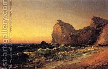 Coastal Scene by Jasper Francis Cropsey - Reproduction Oil Painting
