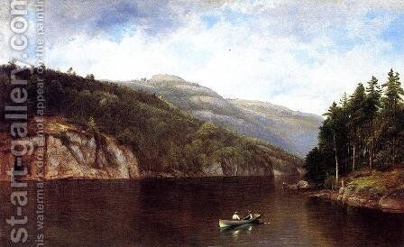 Boating on Lake George by David Johnson - Reproduction Oil Painting