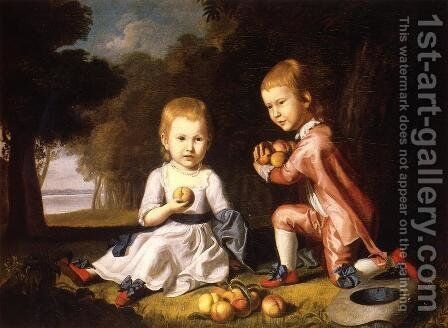 The Stewart Children by Charles Willson Peale - Reproduction Oil Painting