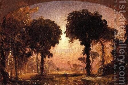 Ideal Landscape: Homage to Thomas Cole by Jasper Francis Cropsey - Reproduction Oil Painting