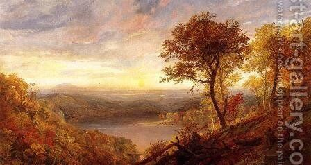 Greenwood Lake by Jasper Francis Cropsey - Reproduction Oil Painting