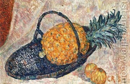 Still Life with Pineapple by Christian Rohlfs - Reproduction Oil Painting