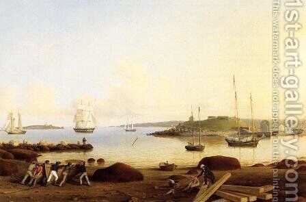 The Fort and Ten Pound Island, Gloucester, Massachusetts by Fitz Hugh Lane - Reproduction Oil Painting