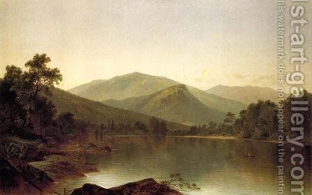 View on the Androscoggin River, Maine by David Johnson - Reproduction Oil Painting