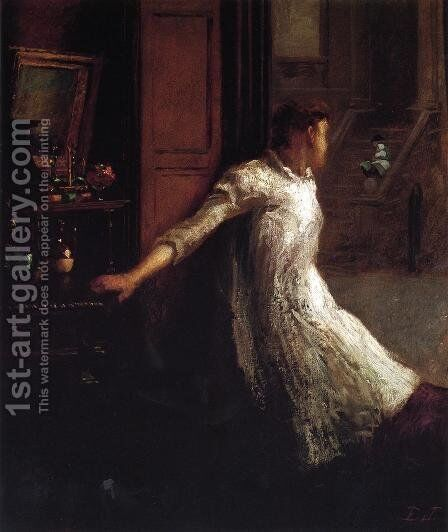 Girl at the Window by Eastman Johnson - Reproduction Oil Painting