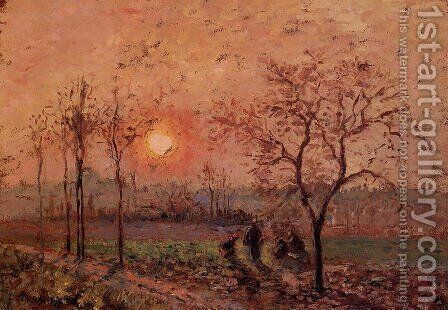 Sunset by Camille Pissarro - Reproduction Oil Painting
