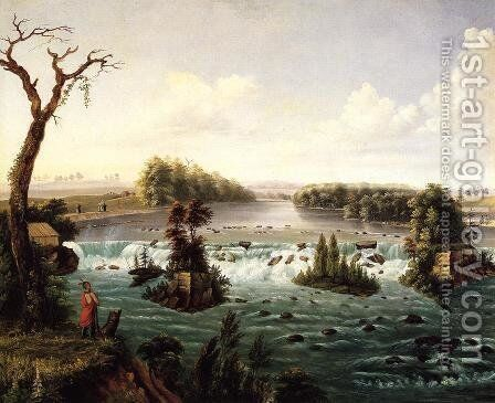 Falls of St. Anthony, Upper Mississippi by Henry Lewis - Reproduction Oil Painting