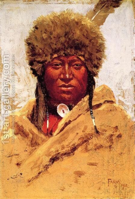Indian Head by Henry Farny - Reproduction Oil Painting