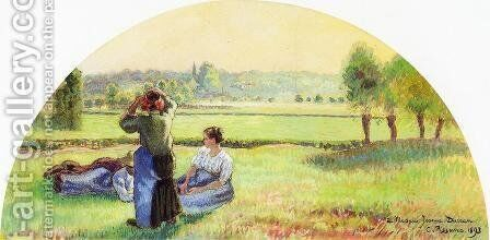 Siesta in the Fields by Camille Pissarro - Reproduction Oil Painting