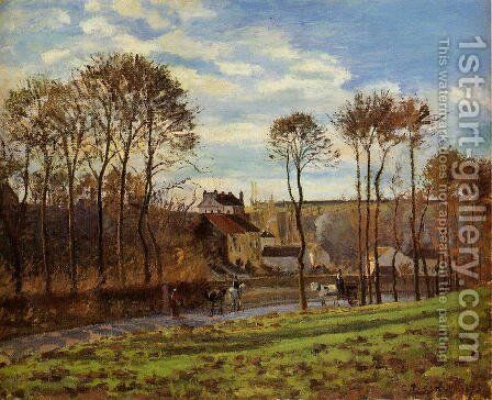 Pontoise, Les Mathurins by Camille Pissarro - Reproduction Oil Painting