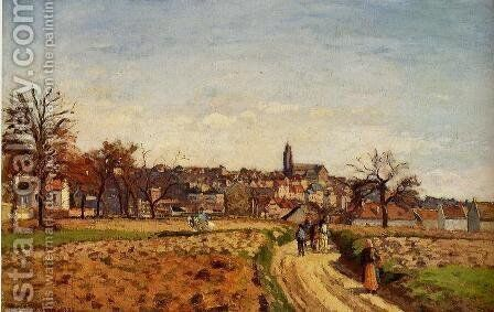 View of Pontoise by Camille Pissarro - Reproduction Oil Painting