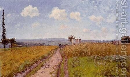 June Morning, View over the Hills over Pontoise by Camille Pissarro - Reproduction Oil Painting