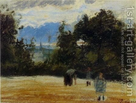The Clearing by Camille Pissarro - Reproduction Oil Painting