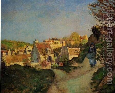 La Cote du Jallais, Pontoise by Camille Pissarro - Reproduction Oil Painting