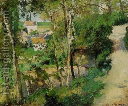 The Rising Path, Pontoise by Camille Pissarro - Reproduction Oil Painting