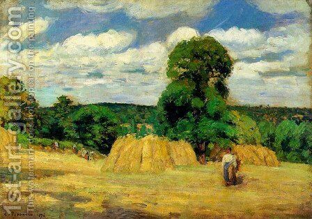 The Harvest at Montfoucault by Camille Pissarro - Reproduction Oil Painting