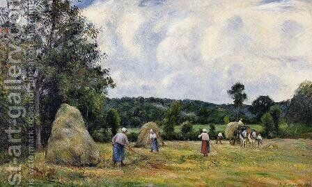 The Harvest at Montfoucault I by Camille Pissarro - Reproduction Oil Painting
