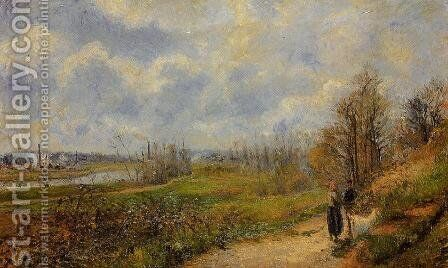 The Pathway at Le Chou, Pontoise by Camille Pissarro - Reproduction Oil Painting