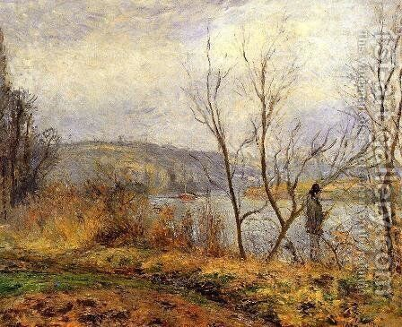The Banks of the Oise, Pontoise by Camille Pissarro - Reproduction Oil Painting