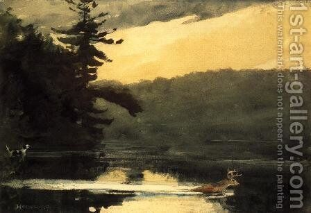 Deer in the Adirondacks by Winslow Homer - Reproduction Oil Painting