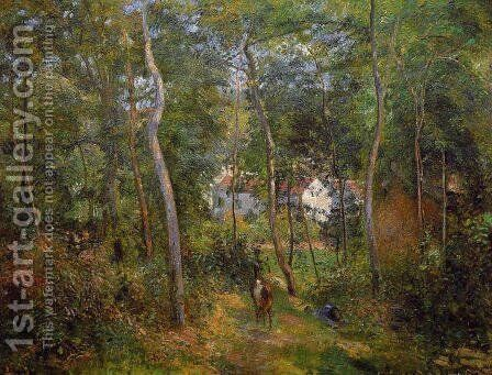 The Backwoods of l'Hermitage, Pontoise by Camille Pissarro - Reproduction Oil Painting