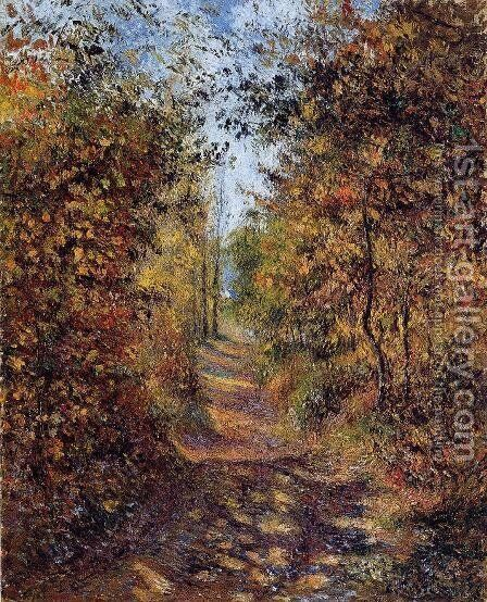 A Path in the Woods, Pontoise by Camille Pissarro - Reproduction Oil Painting