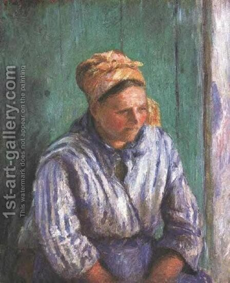 Washerwoman Study by Camille Pissarro - Reproduction Oil Painting